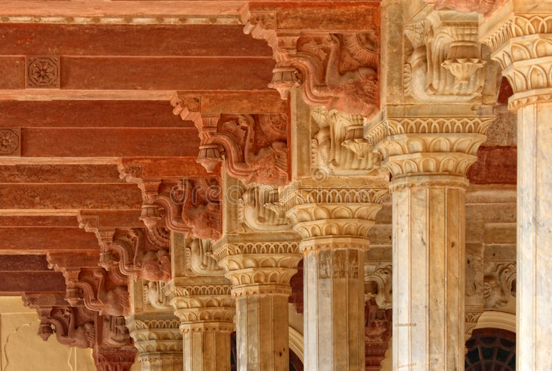 Ancient columns. Fine hi res image of ancient columns background stock images