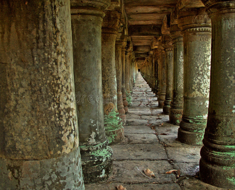 Download Ancient columns Angkor stock image. Image of complex, asia - 3642077