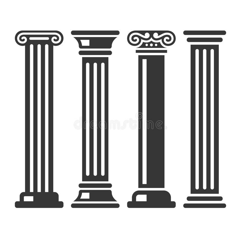 Free Ancient Columns Icon Set. Vector Stock Photography - 86084732