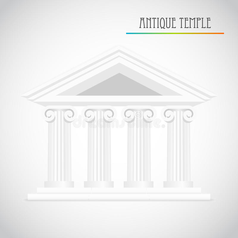 Ancient Columns Vector Royalty Free Stock Photography