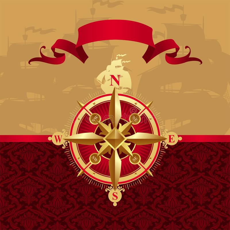 Download Ancient Compass Rose Stock Photo - Image: 9391330