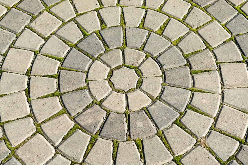 Ancient concentric circles stock images