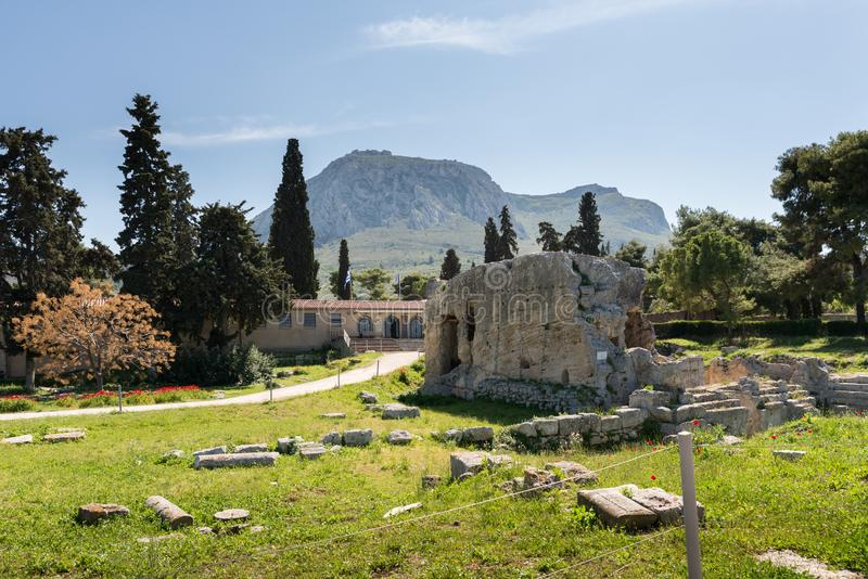 At Ancient Corinth in Greece. Europe stock image