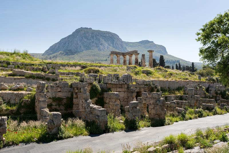 At Ancient Corinth in Greece. Europe stock images