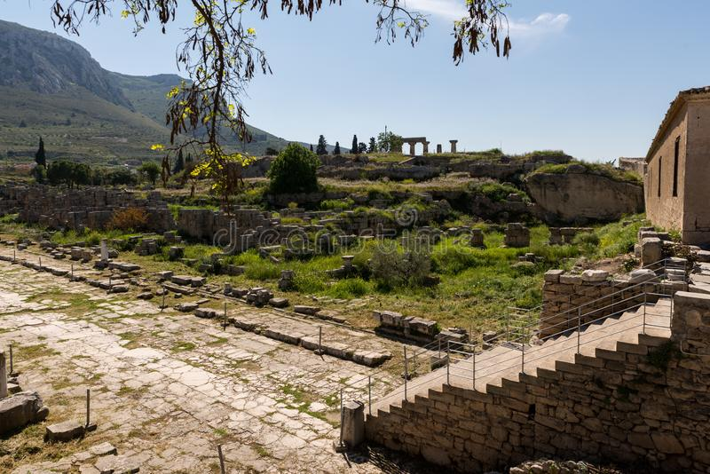 At Ancient Corinth in Greece. Europe royalty free stock images