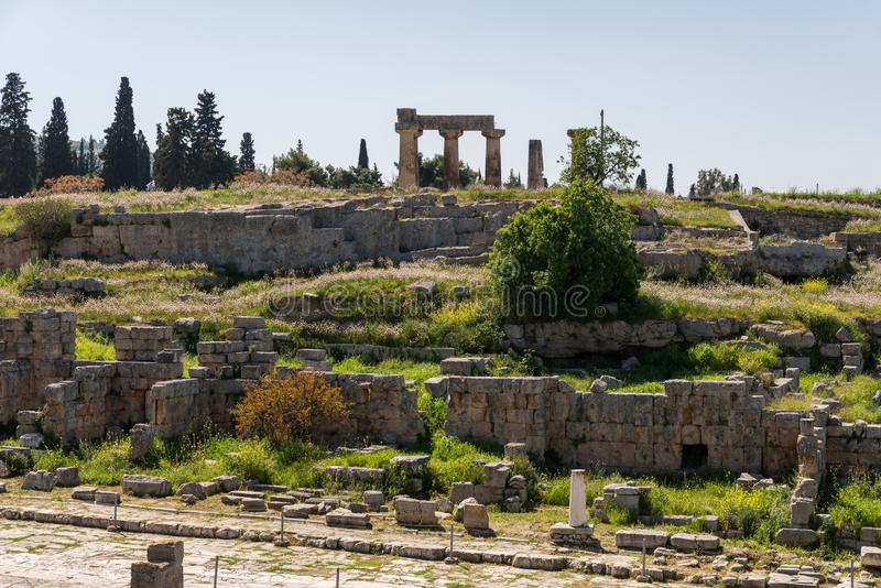 At Ancient Corinth in Greece. Europe stock photos