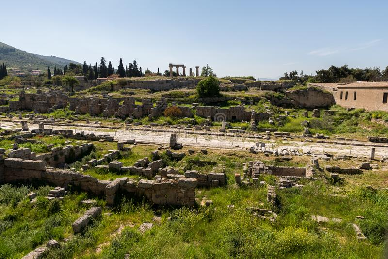 At Ancient Corinth in Greece. Europe royalty free stock photography
