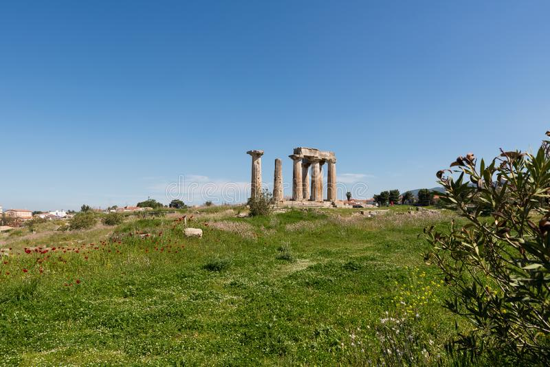 At Ancient Corinth in Greece. Europe royalty free stock photo