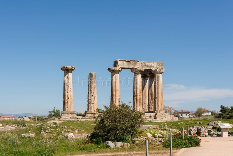 At Ancient Corinth in Greece. Europe stock photography
