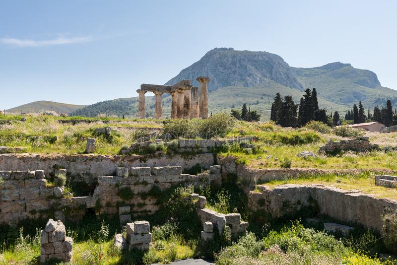 At Ancient Corinth in Greece. Europe royalty free stock image