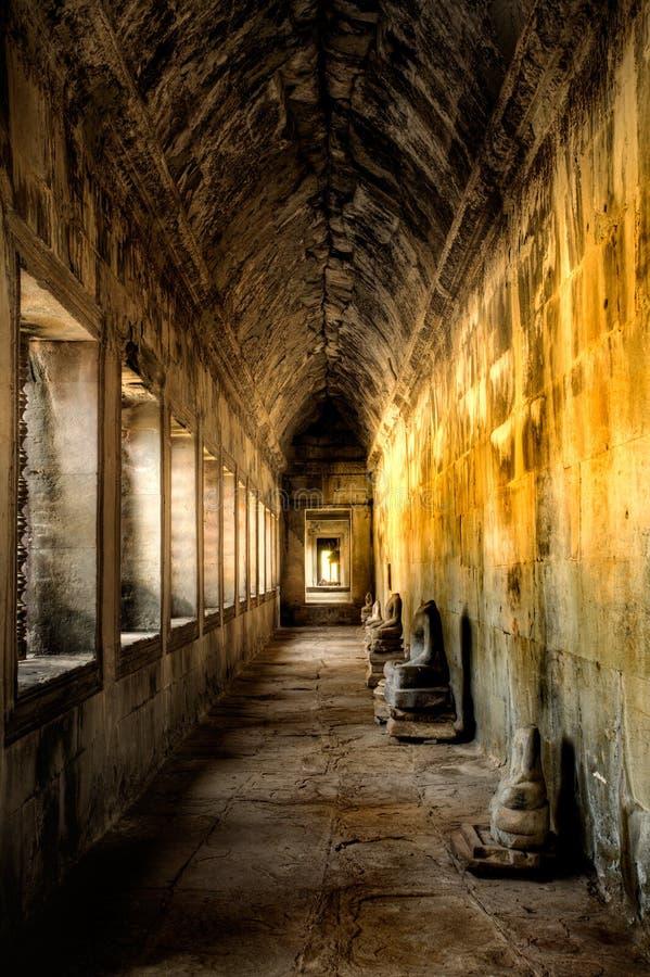 Ancient corridor stock photos