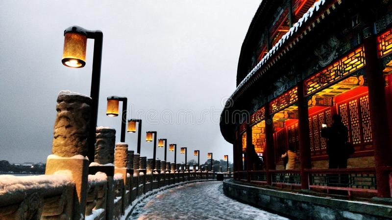 An ancient corridor royalty free stock photo