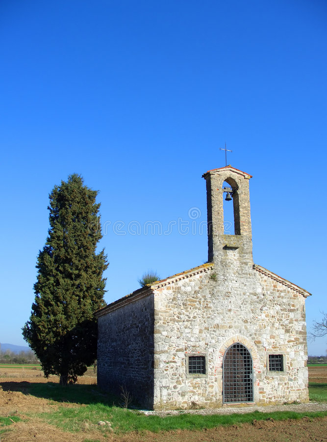 Ancient countryside church royalty free stock image
