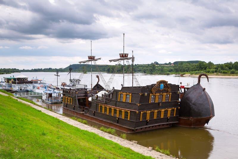Ancient criuse ship on the Vistula river