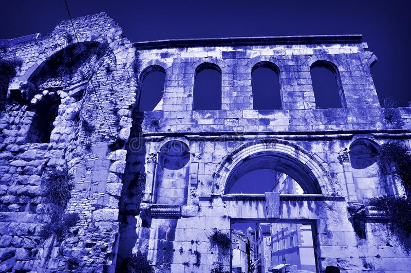 Ancient Croatia Roman ruins royalty free stock photos