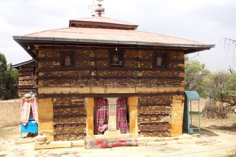 Ancient Debre Damo monastery building, Tigray, Ethiopia royalty free stock photo