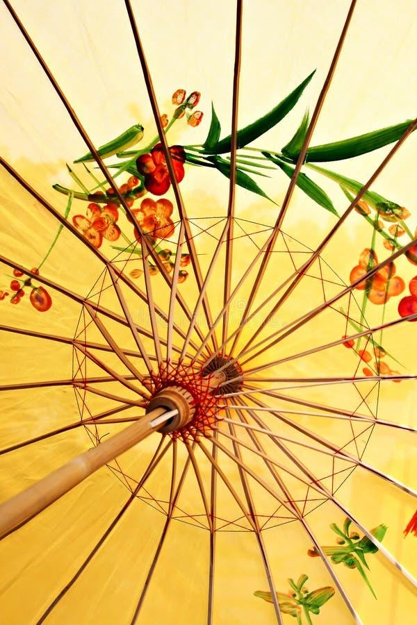 Ancient decorative umbrella. Ancient decorative Chinese style umbrella stock images