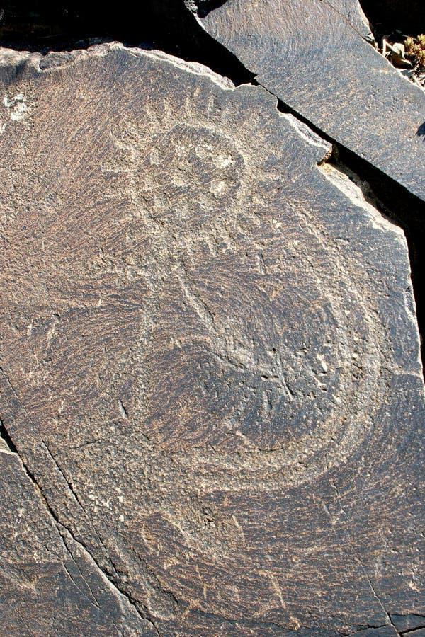 Ancient deity Tengri. stock image