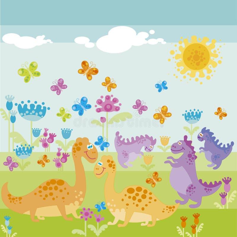 Ancient Dinosaur Stock Image