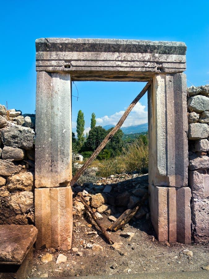 Ancient door royalty free stock photos