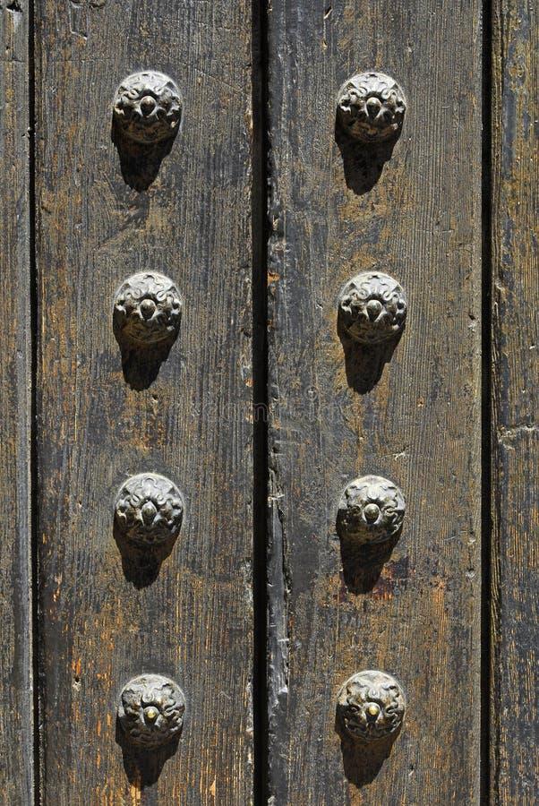 Ancient door detail stock images