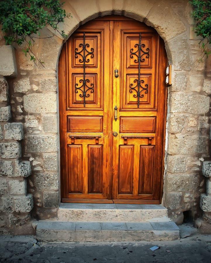 Free Ancient Door In Rhodes Island Stock Image - 17377111
