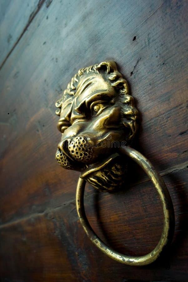 Ancient door knob stock photo