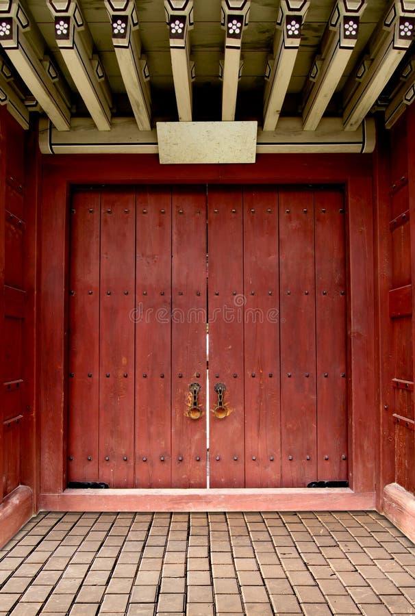 Ancient Door Korea Style Royalty Free Stock Photos Image