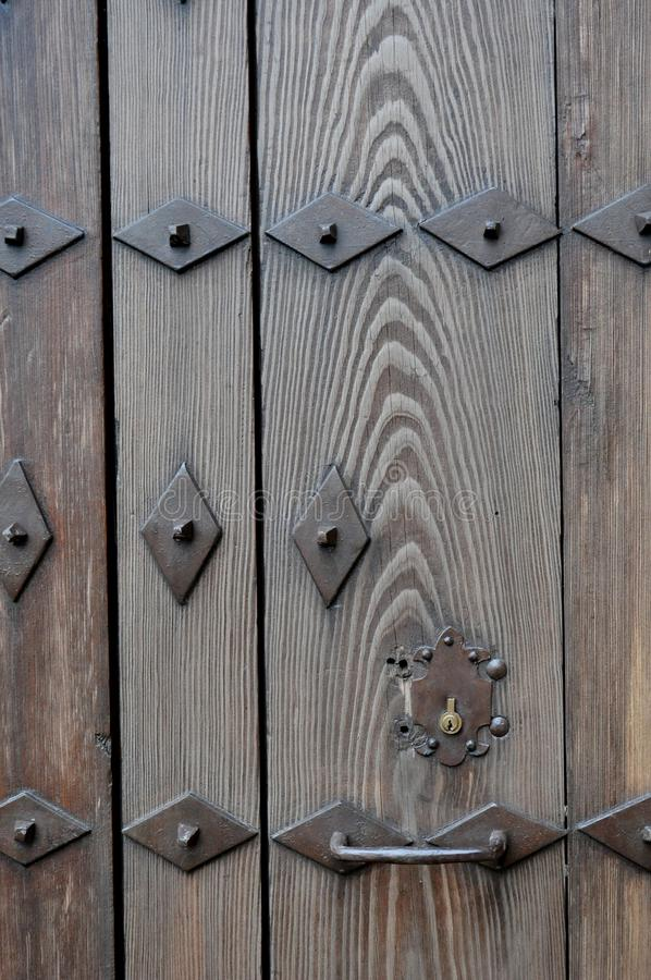 Download Ancient door with nails stock image. Image of home, threshold - 83714583