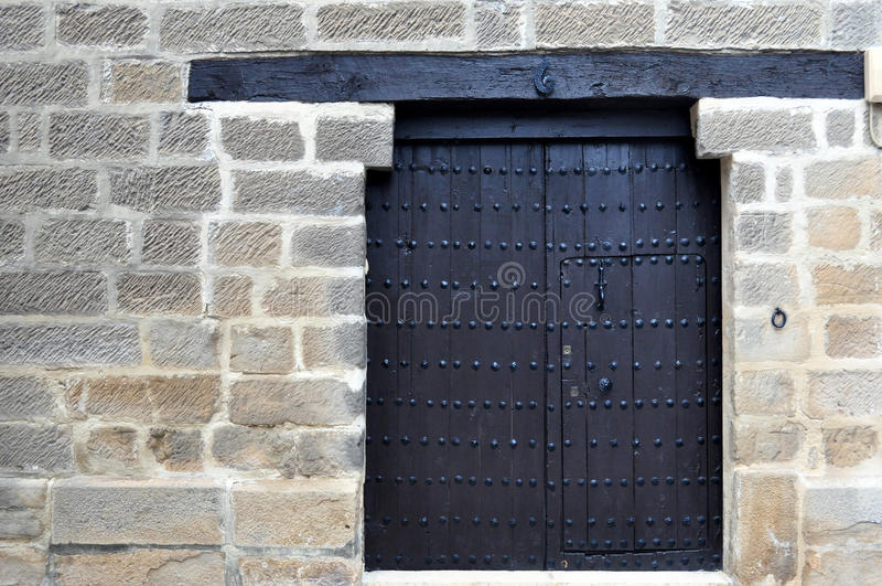 Download Ancient Door With Nails Stock Photo - Image: 83715765