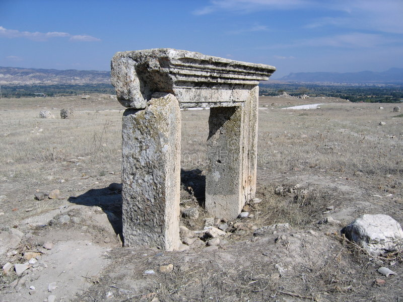 Ancient Doorway - Laodicea, Turkey royalty free stock images