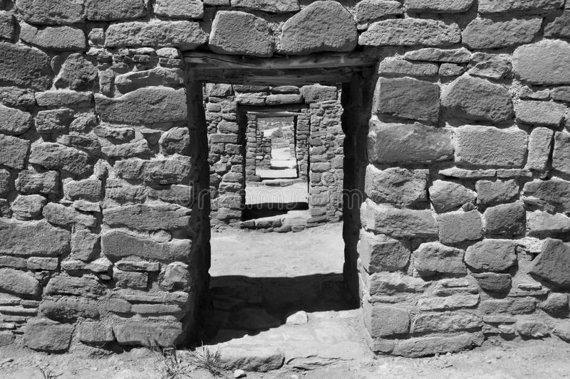 Ancient doorways stock image