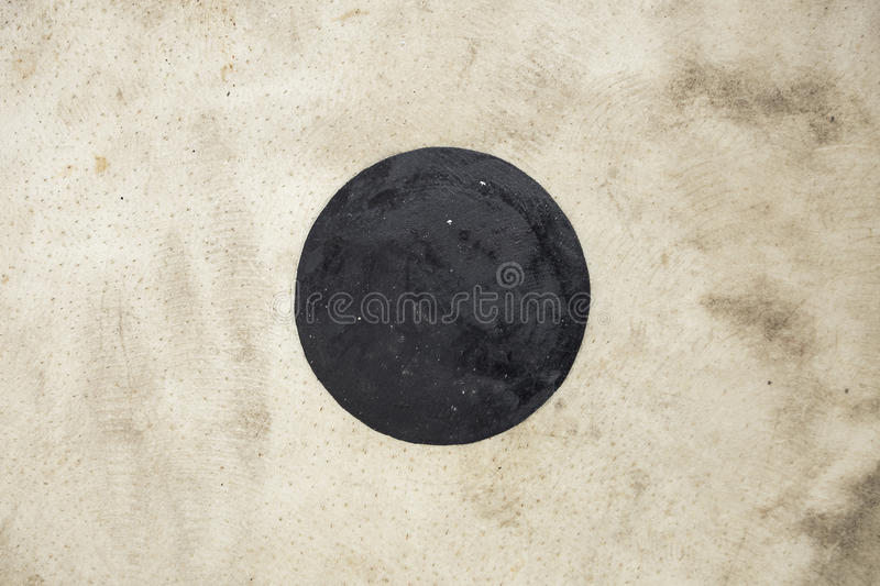 Ancient drum surface. In Chiang mai stock photos