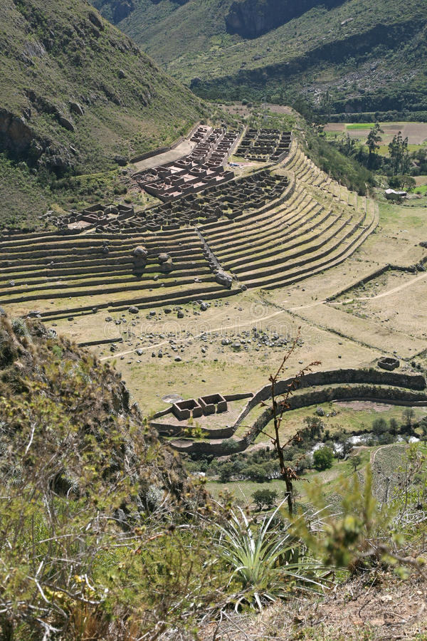Ancient dwelling ruins, Machu Picchu royalty free stock photos