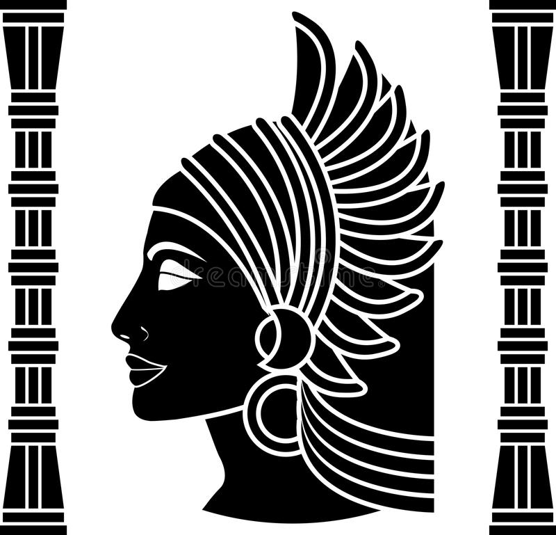 Ancient eastern woman vector illustration
