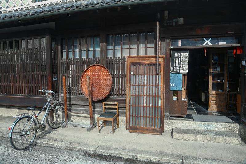 Ancient Edo-style souvenir shop at kurashiki, JAPAN. KURASHIKI, JAPAN - November 25 : Ancient Edo-style souvenir shop at kurashiki, JAPAN royalty free stock photo