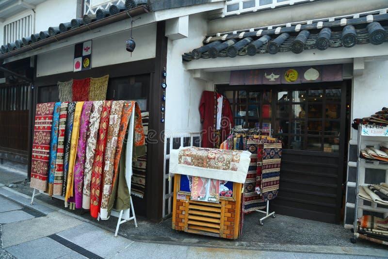 Ancient Edo-style souvenir shop at kurashiki, JAPAN. KURASHIKI, JAPAN - November 25 : Ancient Edo-style souvenir shop at kurashiki, JAPAN stock photos