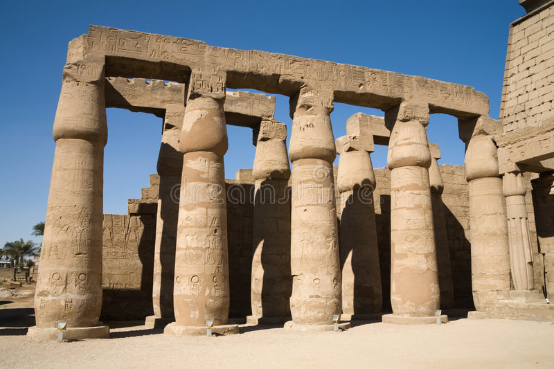Ancient Egypt. A photo of Karnak temple in Luxor, Egypt royalty free stock photography