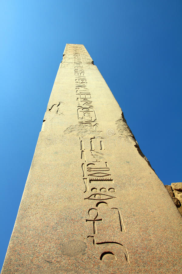 Ancient egypt column in karnak temple royalty free stock image