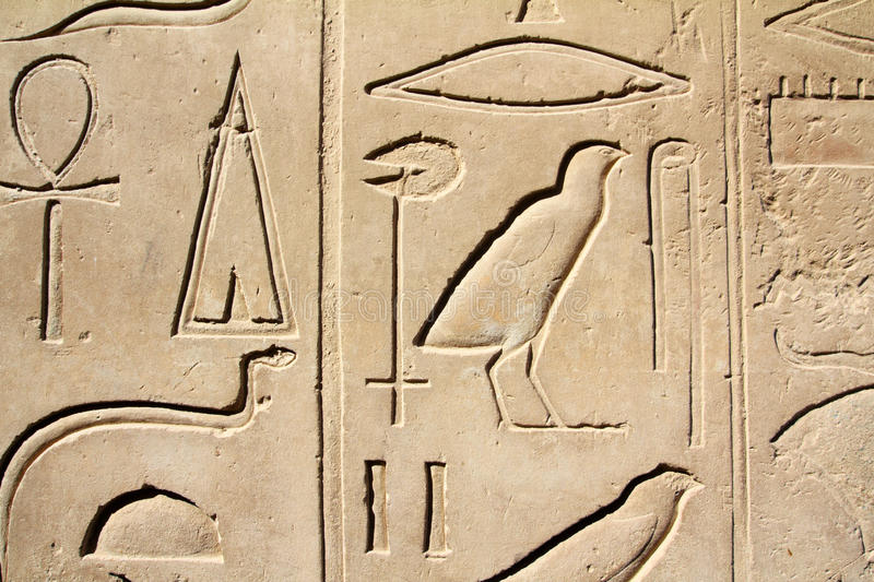 Ancient Egypt Images And Hieroglyphics Royalty Free Stock Photography