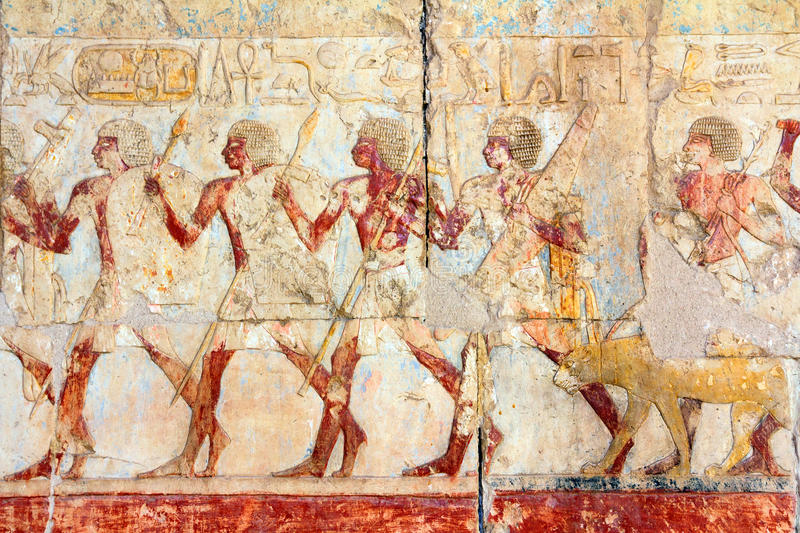 Ancient egypt images and hieroglyphics stock photography