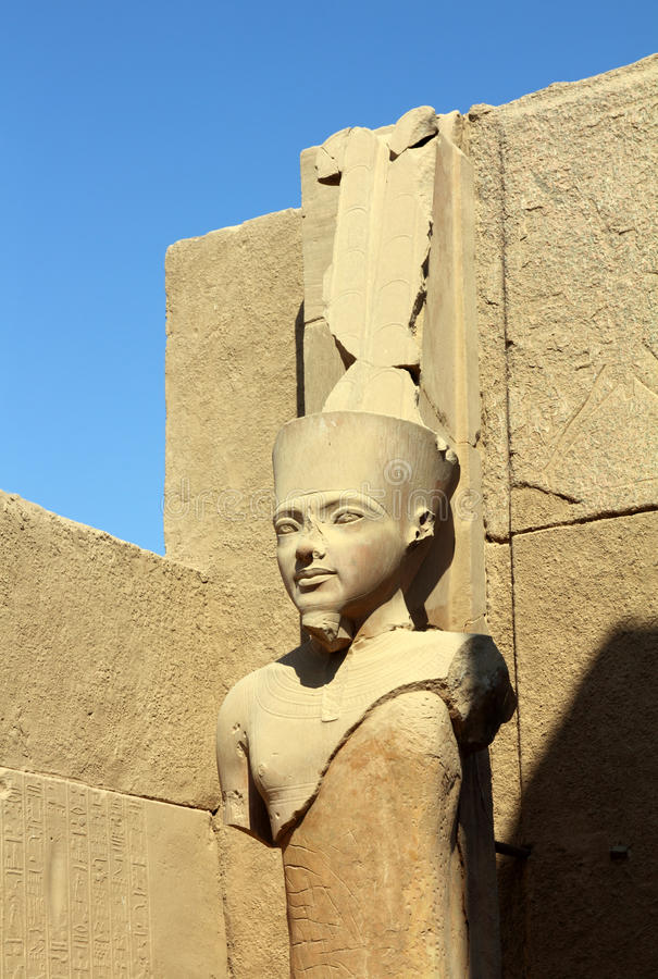 Ancient egypt pharaoh statue stock photography