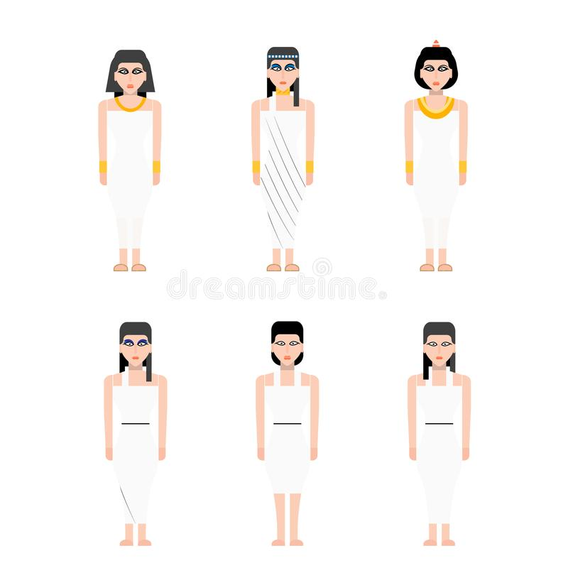 Ancient Egypt woman vector illustration