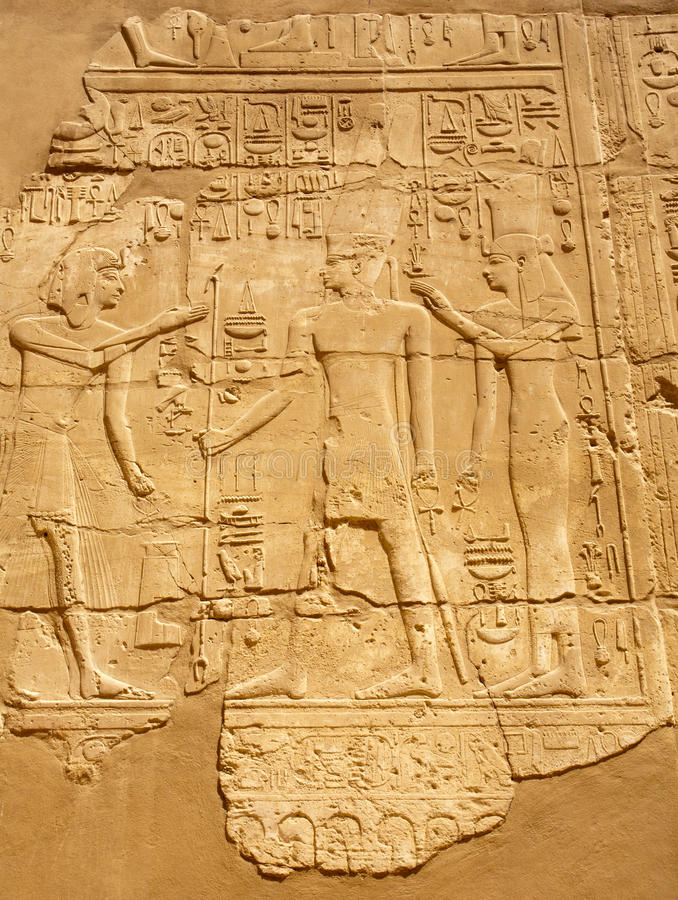 Download Ancient Egyptian Bas-relief Stock Image - Image: 16335705
