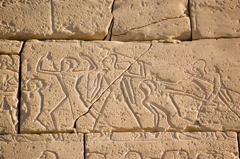 Download Ancient Egyptian Battle, Ramesseum, Luxor Stock Image - Image of west, sculpture: 18091885