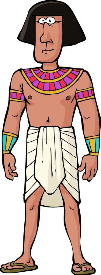 Ancient Egyptian citizen. On white background vector stock illustration