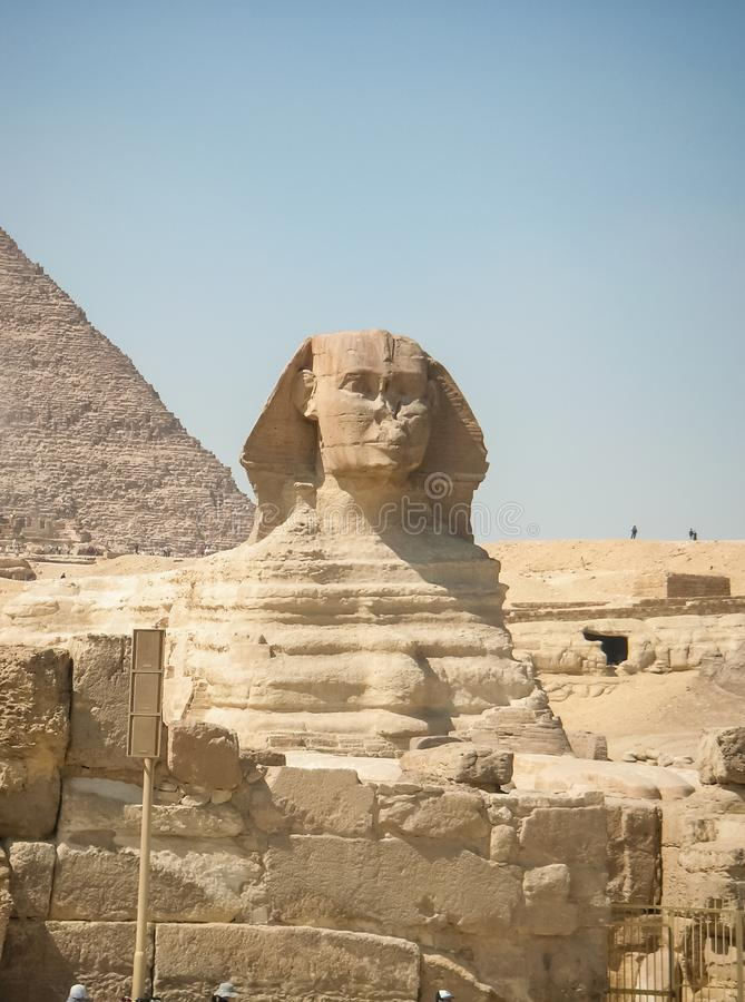 ancient Egyptian civilization. Great Sphinx royalty free stock photos