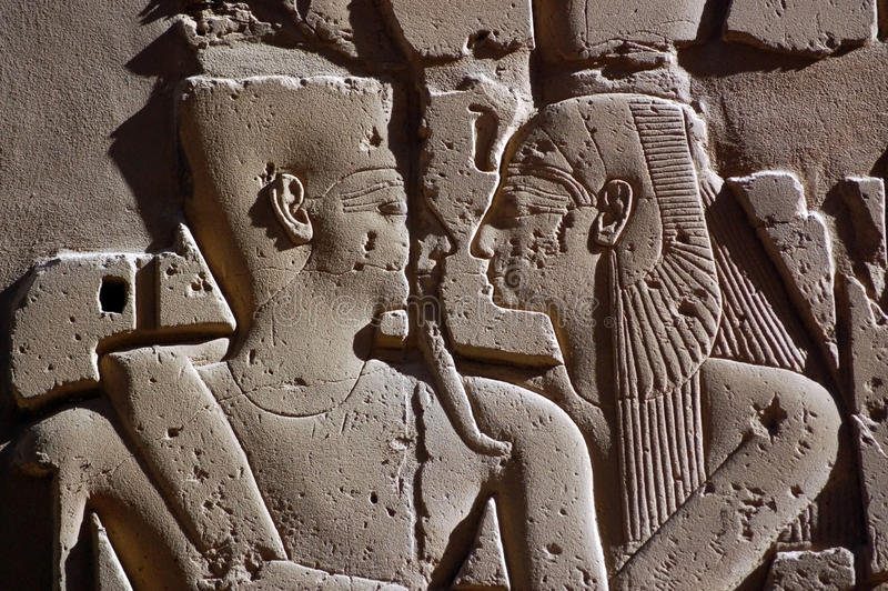Download Ancient Egyptian Embrace stock photo. Image of romance - 15373424