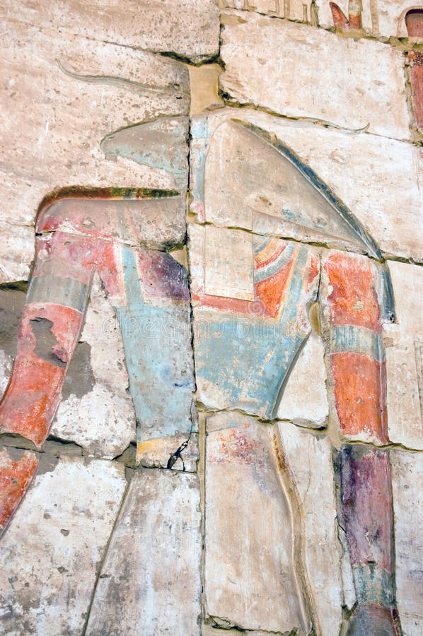Download Ancient Egyptian god Khnum stock photo. Image of wall - 13131922