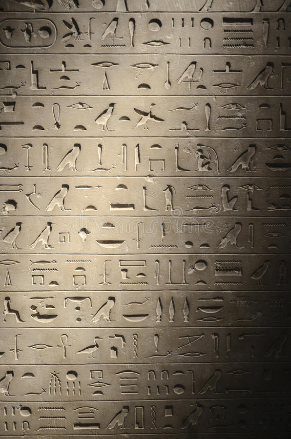 Free Ancient Egyptian Hieroglyphs Royalty Free Stock Photography - 53576177